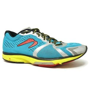 Newton Trail Running Shoes Blue Yellow Size 9.5